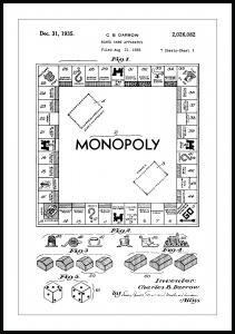 Lagervaror egen produktion Patent drawing - Monopoly I Poster