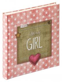 Walther Little Baby album Girl Pink - 28x30.5 cm (50 White pages / 25 sheets)