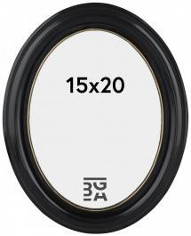 Estancia Eiri Mozart Oval Black 15x20 cm
