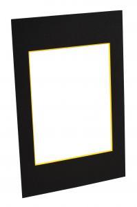 Passepartouter Måttbeställda Mount Black (Yellow Core) - Custom Size