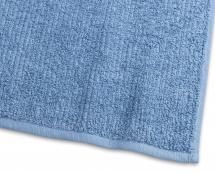 Borganäs of Sweden Towel Stripe Terrycloth - Medium Blue 65x130 cm