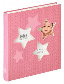 Walther Estrella Baby album Pink - 28x30,5 cm (50 White pages / 25 sheets)