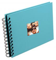 Walther Fun Spiral bound album Turqouise - 23x17 cm (40 Black pages / 20 sheets)