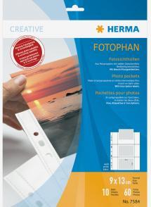 Herma photo sleeves 9x13 cm horizontal - 10-pack white