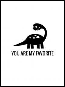 Bildverkstad Dino Favorite Poster
